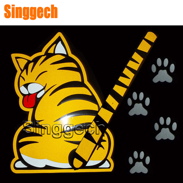 Car Styling Window Wiper Cartoon Cat Sticker For Mitsubishi Asx