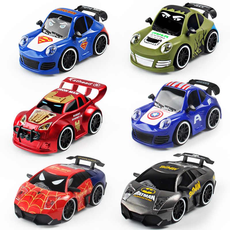 Супергерой 4CH Радиоуправляемый автомобиль Бэтмен Человек-паук Железный человек Capitain RC игрушки модельная игрушка автомобиль