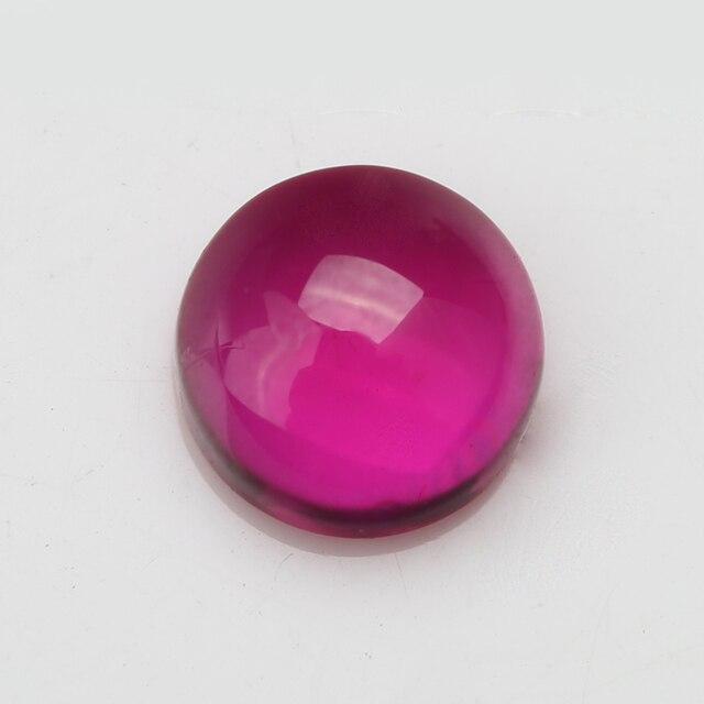 Фото 10 шт 3 мм ~ 5 # цвет круглый кабошон синтетические корундовые