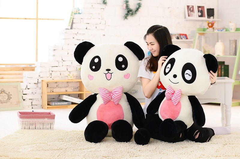 huge 120cm lovely gaint panda plush toy soft doll throw pillow christmas gift b1475 the lovely panda toys sitting panda plush doll with red heart soft toy birthday gift about 30cm