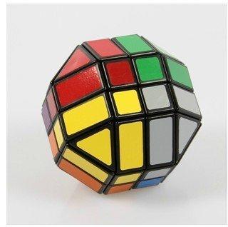 Lanlan 4 x 4 x 4 forma de la bola del rompecabezas del cubo. negro