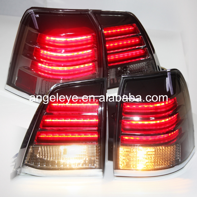 For Toyota Land Crusier 2016-2017 V8 FJ200 LC200 LED Rear Bumper Light Red Clear