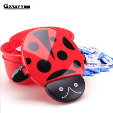 GXYAYYBB Hot Cartoon Ladybug Food Container Lunch boxs Kids fruit Snack Bento Outdoor Camping Microwave Lunchbox