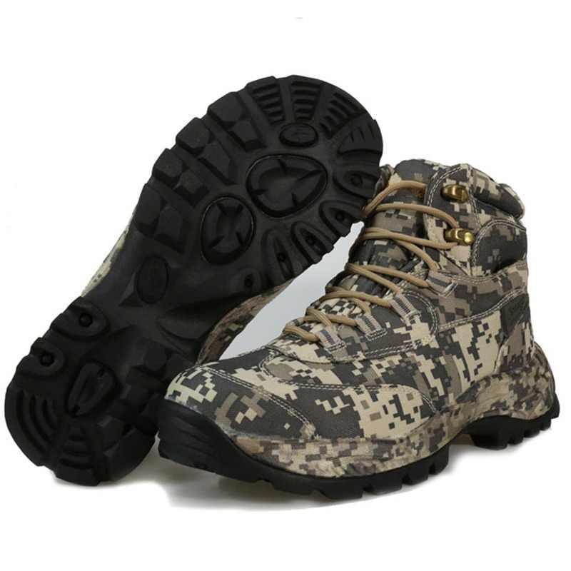 cec25ca82d5bd CUNGE men High-Cut Hiking Boots Waterproof hunting fishing climbing Genuine  nylon Mountain Boots Non