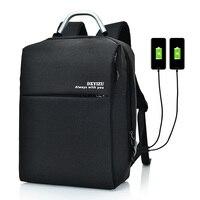 Мужской рюкзак для ноутбука, школьная сумка для ноутбука, бизнес-ноутбук, сумка для компьютера с USB зарядным устройством, новая дорожная сум...