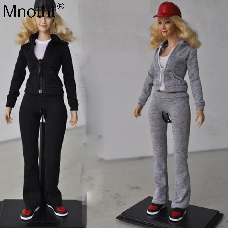 Mnotht 1/6 Scale Action Figure Female Soldier Model outfit-5 outfit-6 Sportswear suit Clothes For 12in PH UD Female Body Model mnotht 1 6 action figure panzer third