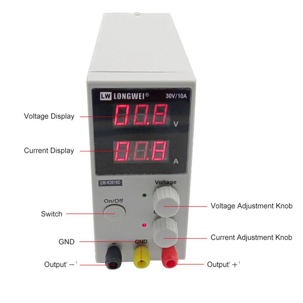 LW3010D fuente de alimentación DC 30 V 10A Mini Digital ajustable DC supplise de conmutación de la fuente de alimentación de 3 dígitos de laboratorio de reparación herramienta - 2