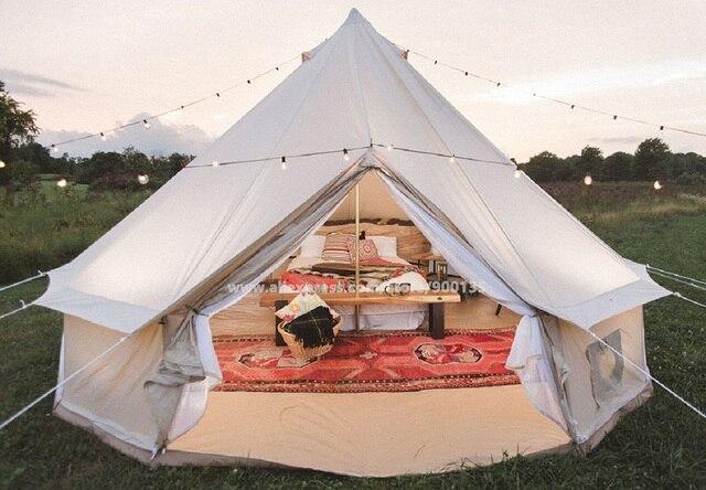 Diameter 5m Waterproof Bell Tent Outdoor Sibley Glamping