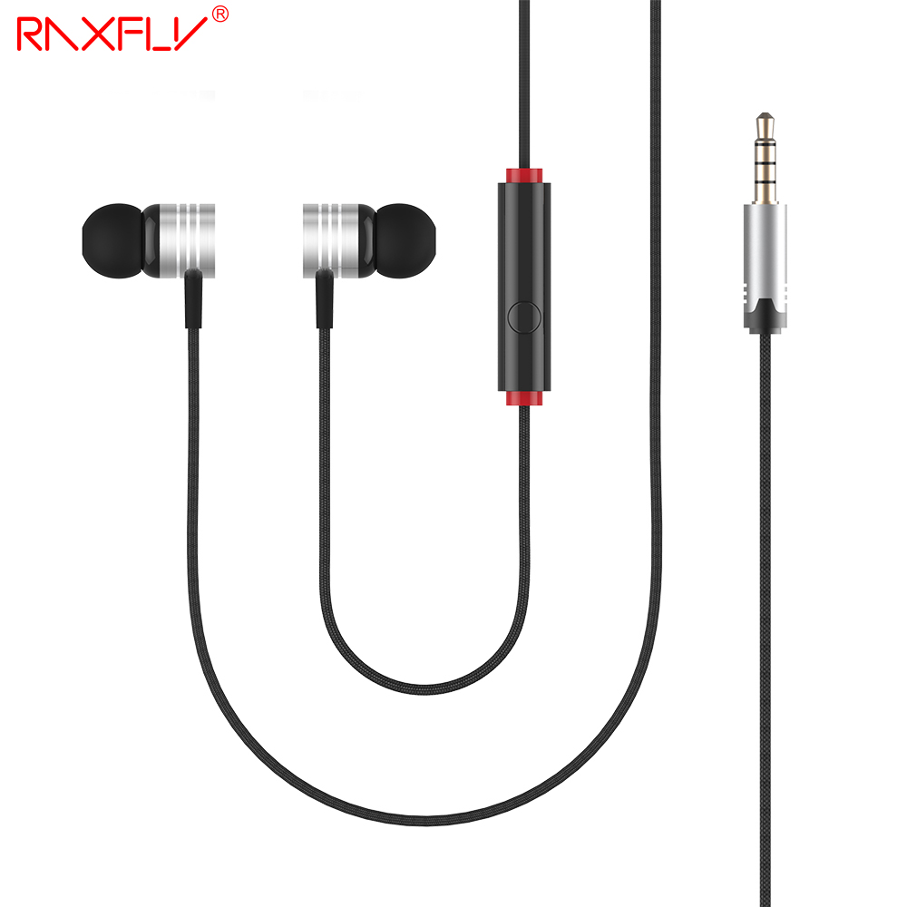 RAXFLY EF-E4 Original In-ear Earphones Bass Stereo Microphone Widely Used for Cellphone MP3 MP4 HD Fidelity with Mic Universal