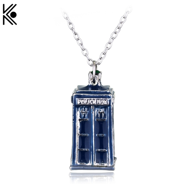 New fashion television doctor who necklace tardis police box vintage new fashion television doctor who necklace tardis police box vintage blueancient necklaces pendants men aloadofball Image collections