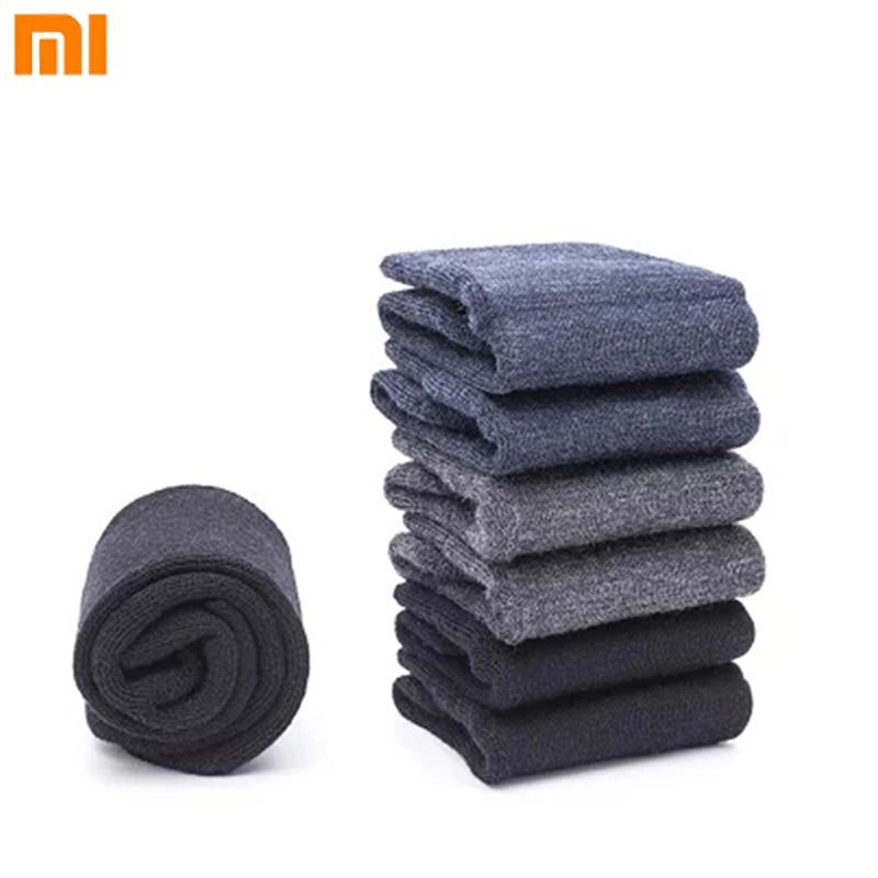 Modest Xiaomi 90 Winter Casual Men Women Wool Socks Thicken Merino Wool Breathable Soft Keep Warm Black Gray Socks One Pair Consumer Electronics