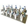 20 unids Knight Lion Cavalryman B Bloque de Construcción minifig, Castillo, accesorio del Ladrillo compatible figuras