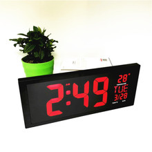 Big numbers Led digital clocks with temperature week date deco home living room bedroom desktop wall clock watch 901a-wall-Clock