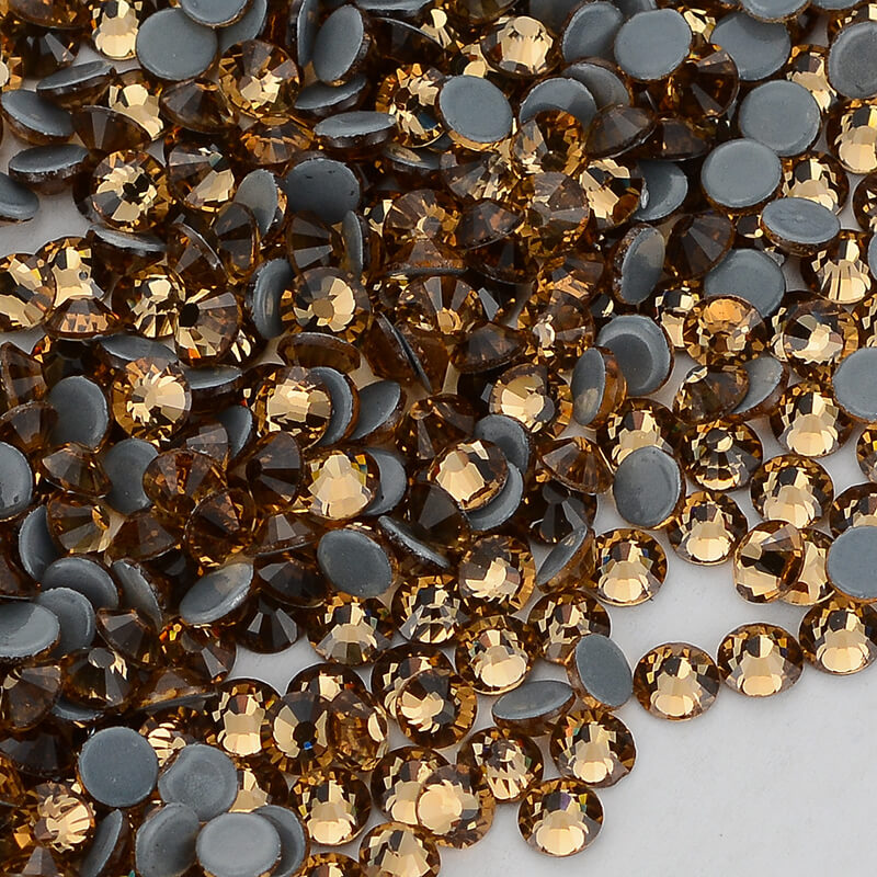 Light Colorado Topaz FlatBack Glass Hot Fix Rhinestones Hot-Fix Crystal Stones For Clothes