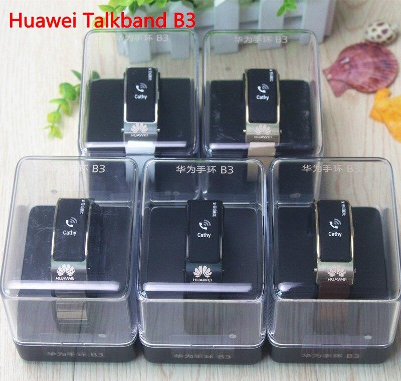 imágenes para Huawei TalkBand B3 auricular Bluetooth teléfono Elegante Original Huawei Banda Reloj Inteligente para Android ISO