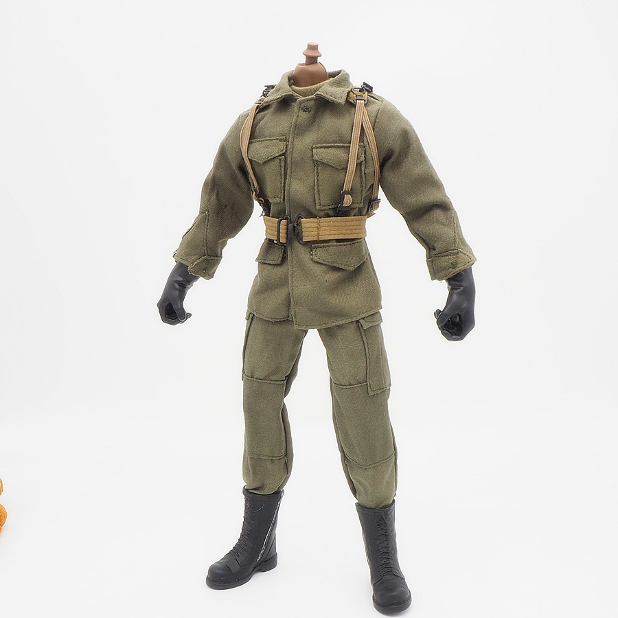 1/6 Scale Accessories Female Clothes Olive WWII Airborne set Soldier Uniforms For 12 Male Military Action Figure Body