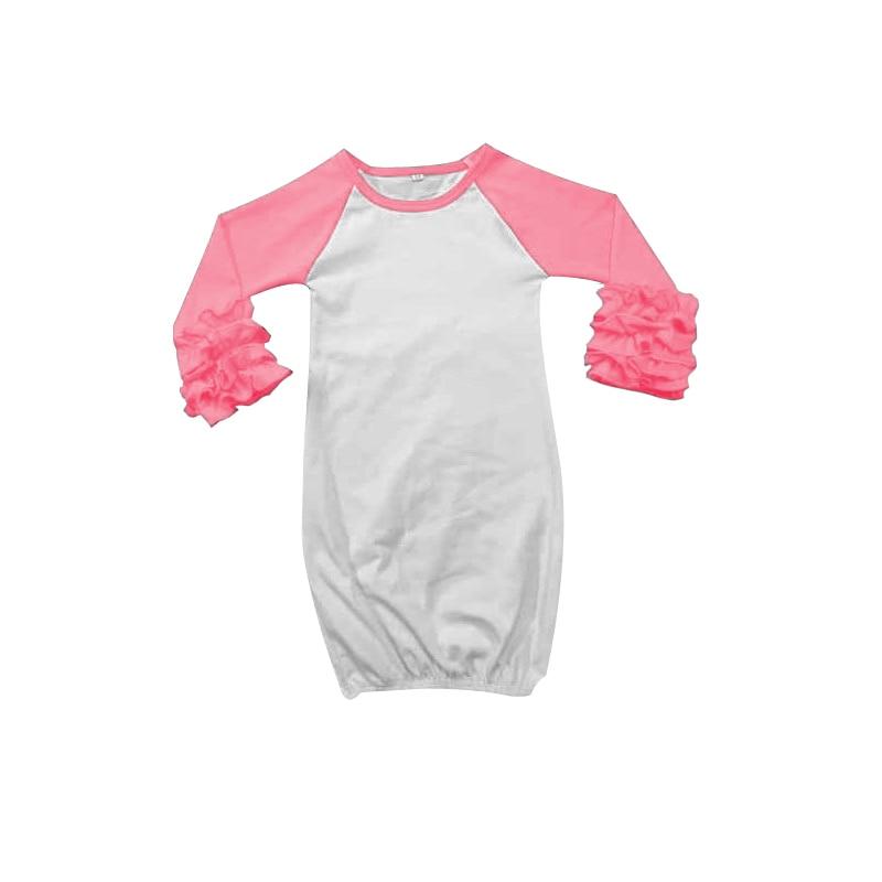Pink Baby Ruffle Sleeping Dress Raglan Sleeve Girls Dress