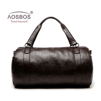 Aosbos New PU Leather Gym Bag Training Sports Bag For Women Men Fitness Bags Durable Outdoor