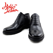 Men Leisure Boots Business Warm Winter Genuine Leather Men's Cotton Shoes Comfortable Pointed Toe Solid 2016 New Fashion Design