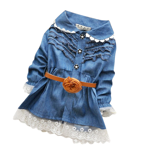 1ab18e89fa23 kids dresses Baby Jeans Dress Blue Denim Infant shirt llittle girls ...