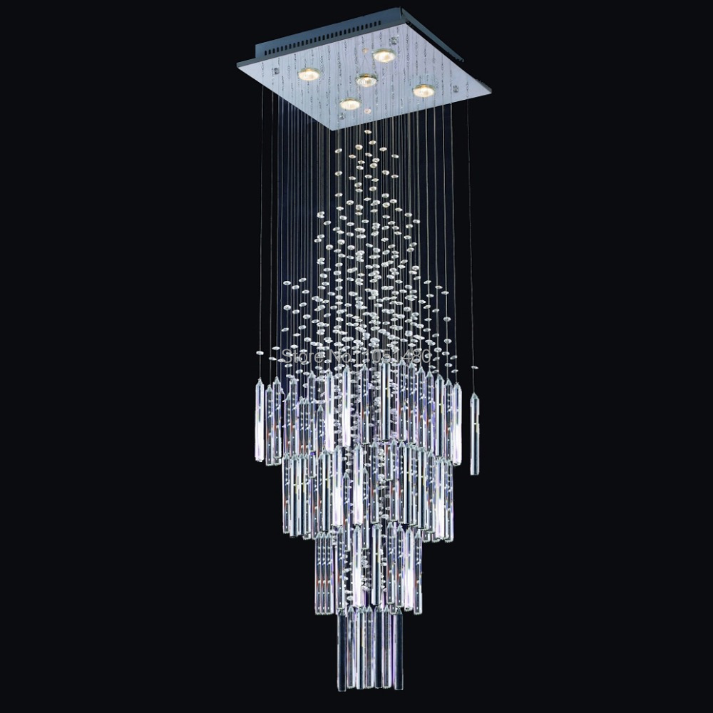 Hot sales flush mount contemporary square crystal chandeliermodern hot sales flush mount contemporary square crystal chandeliermodern home lighting l500w500h1800mm in chandeliers from lights lighting on aliexpress aloadofball Images