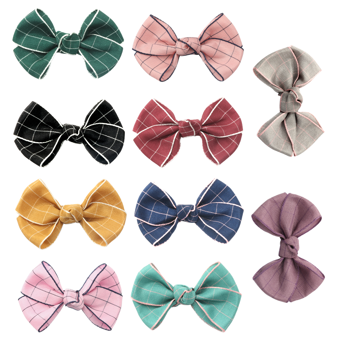 Have An Inquiring Mind 1 Pc Children Hairpins Mini 2.5inch Bow Clip Barrettes Girls Hair Clips Plaid Vintage Grid Knotted Cross Print Hairclips Fine Craftsmanship