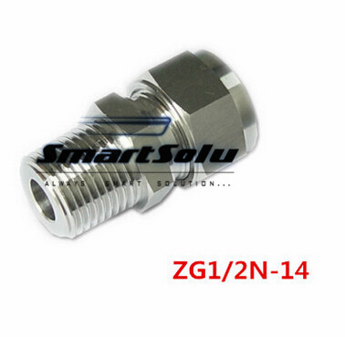 Free shipping Terminal Stainless Steel Connector Fitting,ZG1/2N-14 Thread, Homebrew Fitting,Straight terminal fittings free shipping 97p3153 39j2473 fan pabst 3212 j 2n pseries 9111 520 7029 6c3 9131 52a