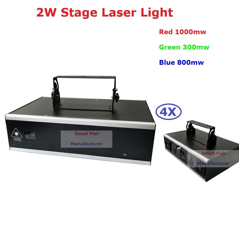 4Pcs/Lot New Arrival 2W RGB Full Color Laser Light 2100mW Animation Laser Lights For Professional Stage Dj Lights Fast Ship цены онлайн