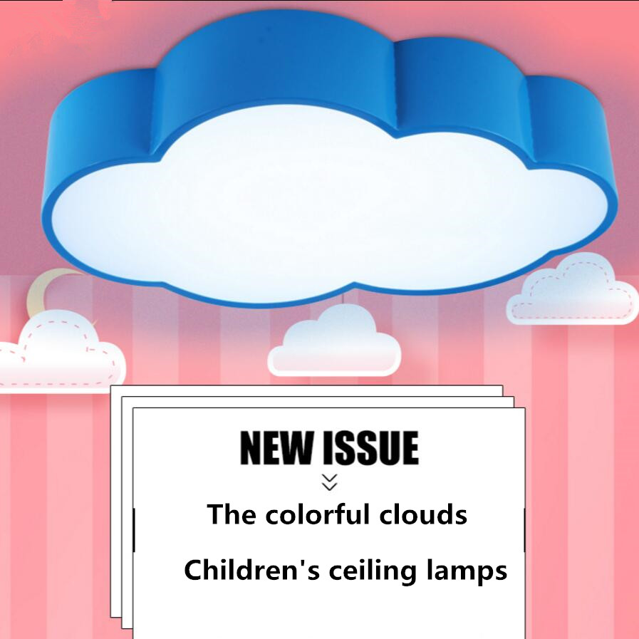 Modern Ceiling lamps LED The cloud metal Ironware Acrylic colorful iron light Children Bedroom indoor lightings light fixture