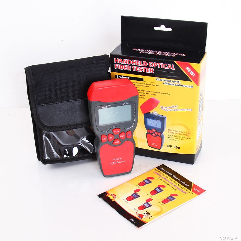 NOYAFA NF-901 Optical Light Source Optical Fiber Tester or Optical Power Meter Tester Visual Fault Locator Optic multimeters mt 7601 fiber optic power meter laser fiber optic tester optical fiber power meter automatic identification frequency