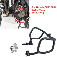 LJBKOALL CRF1000L Steel Lower Engine Crash bar Protector for Honda CRF 1000 L Africa Twin DCT 2016-2017 Black