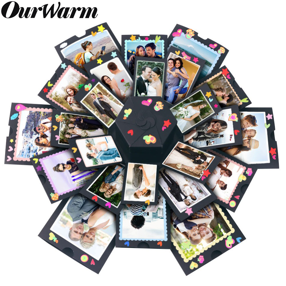 OurWarm Surprise Love Explosion Box DIY Valentines Day Gift Anniversary Gifts for Parents Boyfriend Birthday