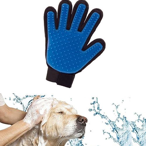 1 Stück Pet Reinigungsbürste Hund Massage Haarentfernung Salon Magie Deshedding Handschuh
