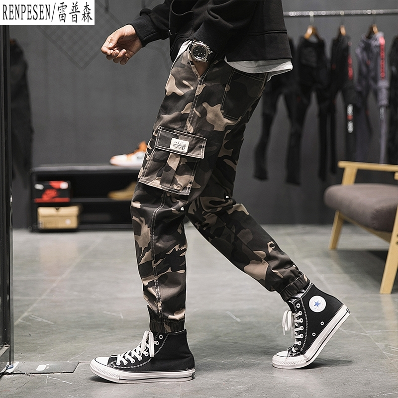 YASUGUOJI New 2019 Tactical Cargo Men Pants Tactical Men Pants Combat Trousers Army Military Chinos Mens Camouflage Pants