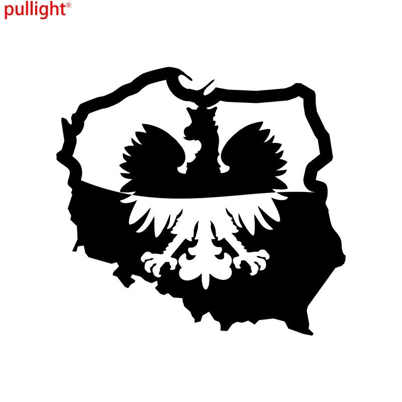 "Poland Map Flag Polska car bumper sticker decal 4/"" x 4/"""