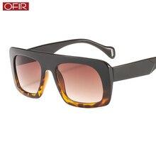 OFIR Fashion Men's Square Sunglasses MenWomen Contrast Color Two-Color Sunglasses Men's Retro Gradient Small Sunglasses contrast color fashion two pockets loose outerwear