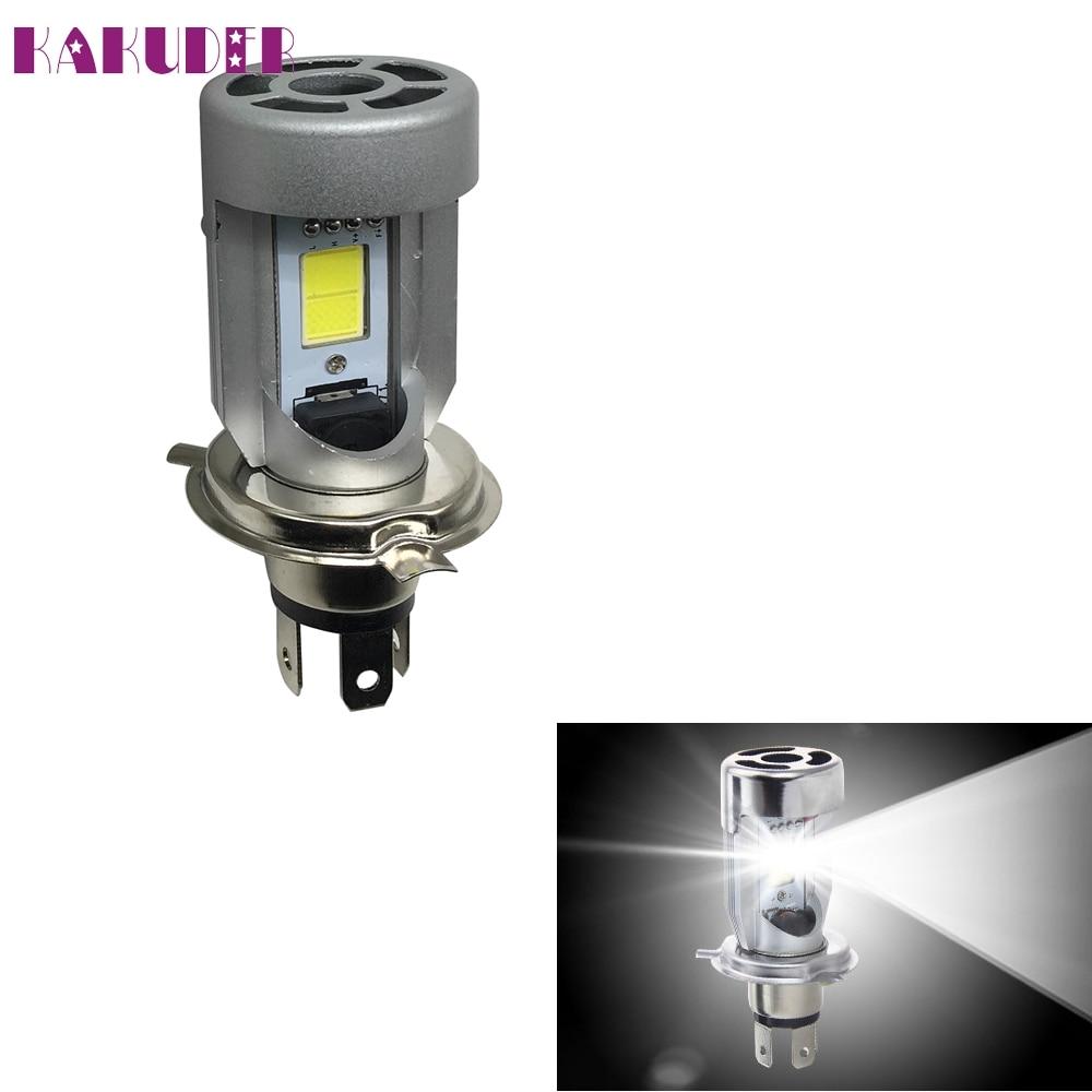 New 1PC H4 Bright White 20w COB LED Hi/Lo Beam Motorcycle Headlight Front Lamp OCT20