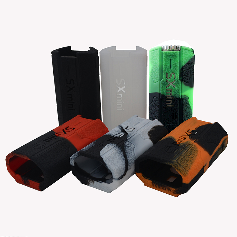 2pcs Yihi SXmini t Class Rubber Silicone Cover Wrap and Silicon Case Skin Sleeve Sticker for SX Mini T Class 200W Box Mod Shield