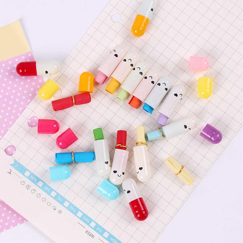 50 cái/lốc Kawaii Trẻ Em Mini Biểu Tượng Cảm Xúc Smile Viên Thuốc Tình Yêu Trống Thông Điệp Viên Phong Bì Thư Giấy Sinh Viên Viết Giấy