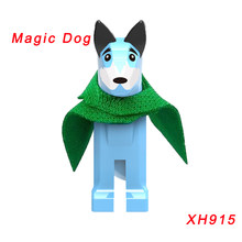 Single Sale Magic Dog Dc Super Heroes Building Blocks Robin Nightwing Superman Father Magic Dog Figures Toys For Children Xh915(China)