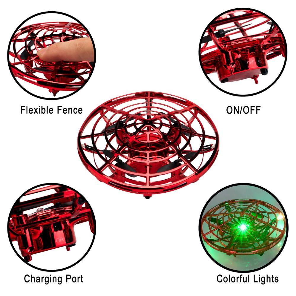 Image 5 - Mini Drones Interactive UFO Flying Ball Toys for Kids and Adults Infrared Sensing Gesture Control RC Drone Helicopter with LED-in RC Helicopters from Toys & Hobbies