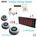 Вызова Система официант К-403 + K-P Пейджинговой Системы