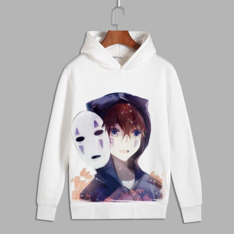 Spirited Away Cosplay Miyazaki Hayao No Face Man Print Pullover hoodies sweatshirts Ogino Chihiro Unisex Fleece Hoody for Autumn