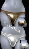Metallic color * concise style *1543*Cavemen official sexy men lingerie Men Sexy T Back Thong G String Brief Underwear free ship