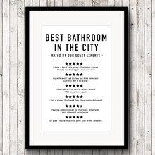 Забавные отзывы на холсте для ванной комнаты, художественные принты и постеры, цитаты для ванной комнаты, Современная Минималистичная картина, домашний декор для стен