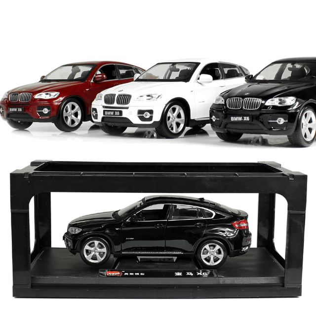 2016 New 3 Colors 1:24 X6 Scale Models Diecast Metal Alloy Mini Car Toys Educational Children Boys Toys Gifts With Simple Box