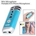 Frete grátis! i9 Atualização Mini Portátil Gravação Cantar Karaoke Player Home KTV Microfone
