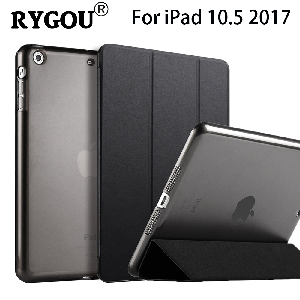 For New iPad 2017 iPad Pro 10.5 inch Case Ultra Slim Smart Case Tri-Folder Stand Auto Sleep/Wake Back Cover For Apple iPAD 10.5 case for apple ipad mini 4 szegychx original 1 1 ultra slim smart cover stand for ipad case auto wake sleep with logo