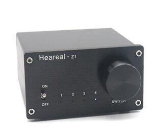 4 entrada 1 saída/1 entrada 4 saída de sinal de áudio bidirecional switcher switch divisor amplificador/alto-falante caixa de seletor de divisor de áudio