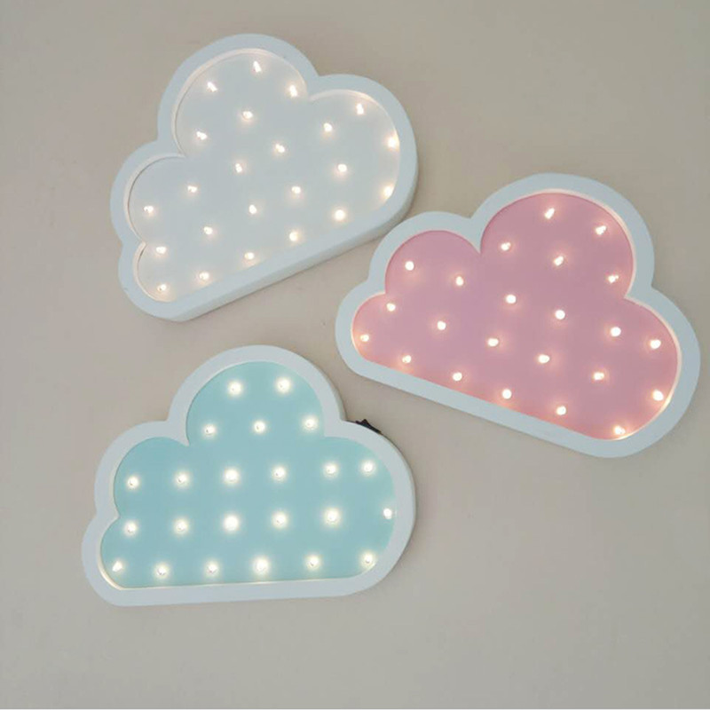 Cloud Led Night Light Wooden for Baby Children Kids Gift Table <font><b>Lamp</b></font> Bedside Bedroom Living Room <font><b>Decorative</b></font> Indoor Lighting